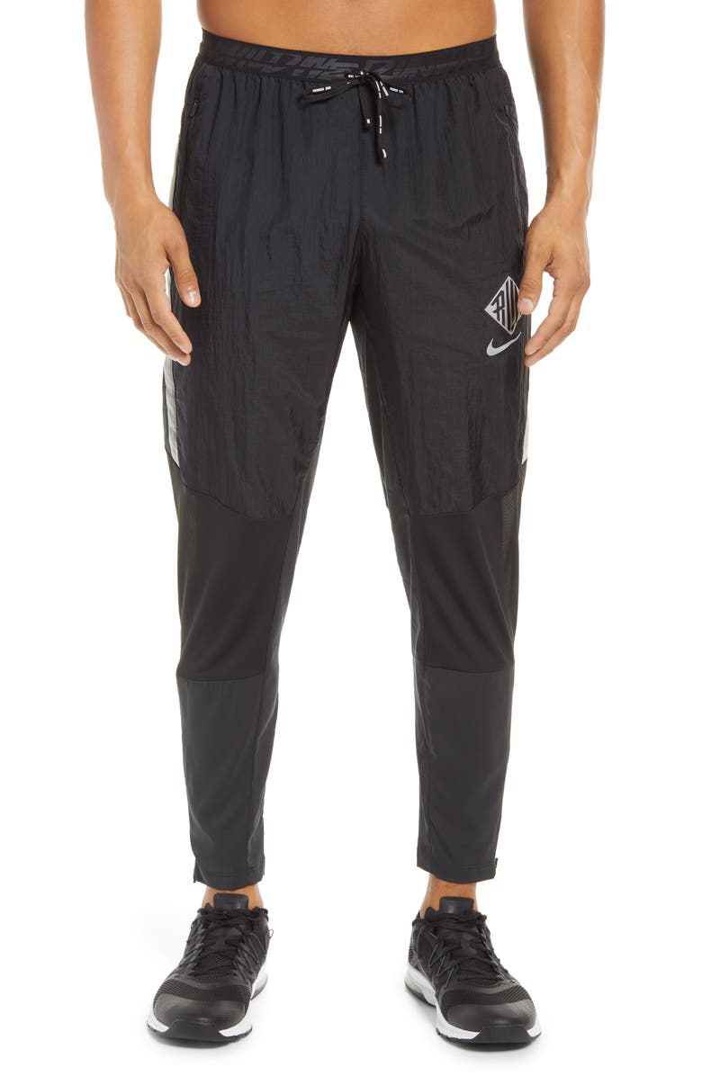 NIKE Phenom Elite Wild Run Pocket Track Pants, Main, color, BLACK/ REFLECTIVE SILVER