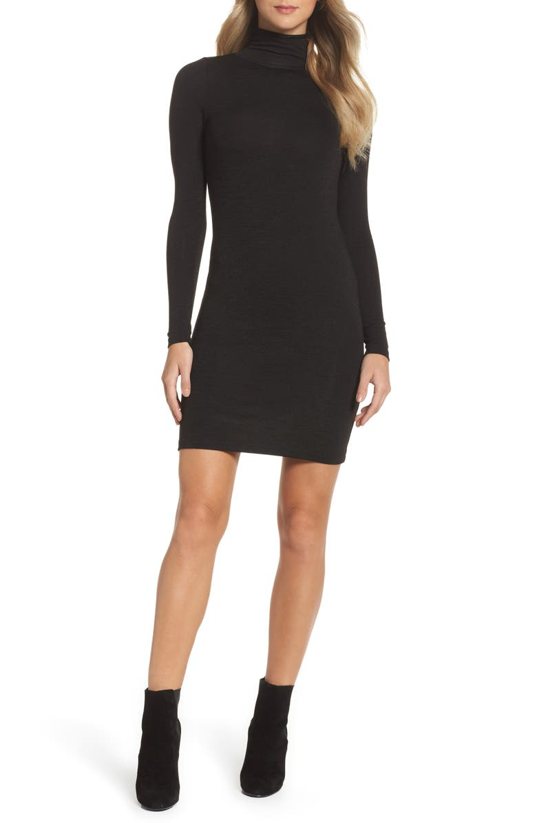 FRENCH CONNECTION 'Sweeter' Turtleneck Sweater Dress, Main, color, 001