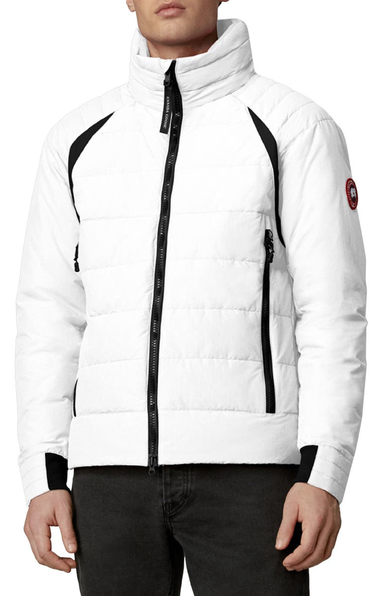 CANADA GOOSE Updated Hybridge Base Hooded 750 Fill Power Down Jacket, Main, color, WHITE