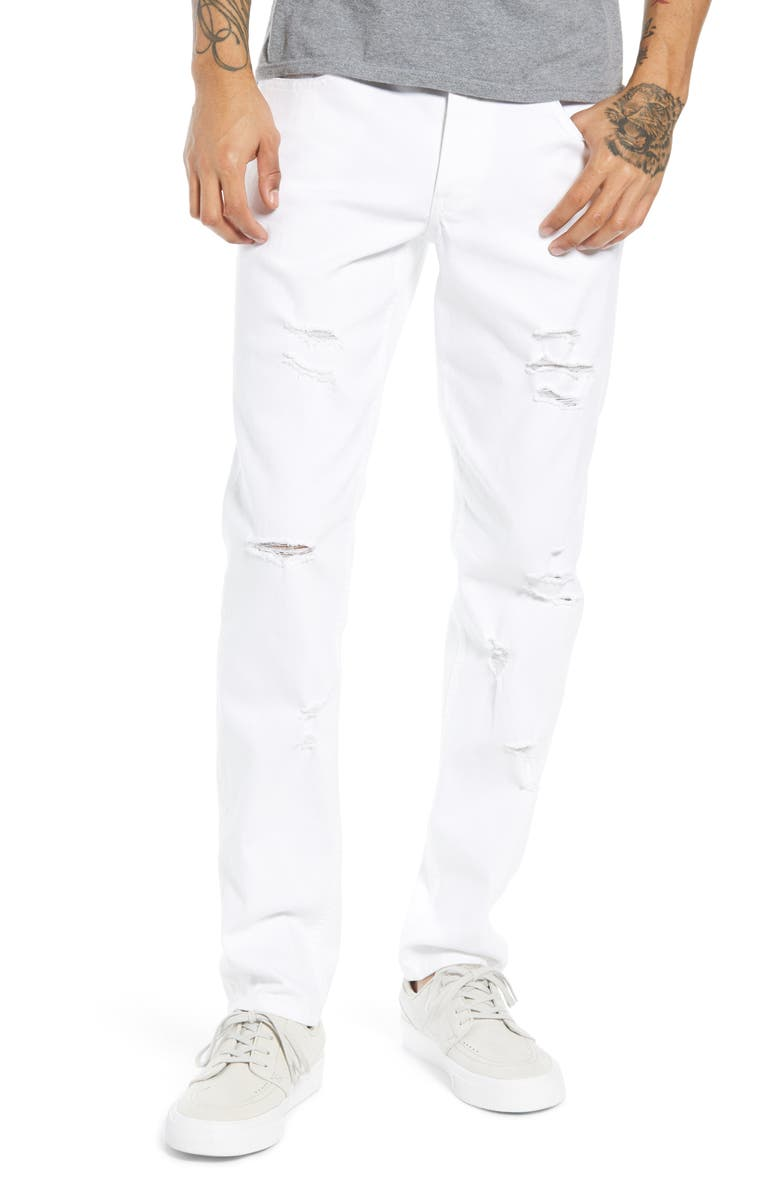 THE RAIL Ripped Skinny Fit Jeans, Main, color, 100
