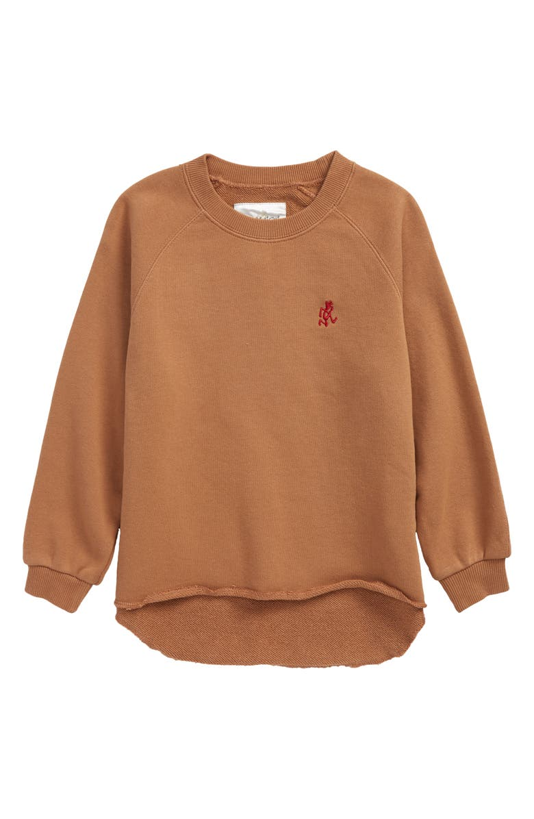 GRAMICCI Kids' Talecut Crewneck Sweatshirt, Main, color, LATTE