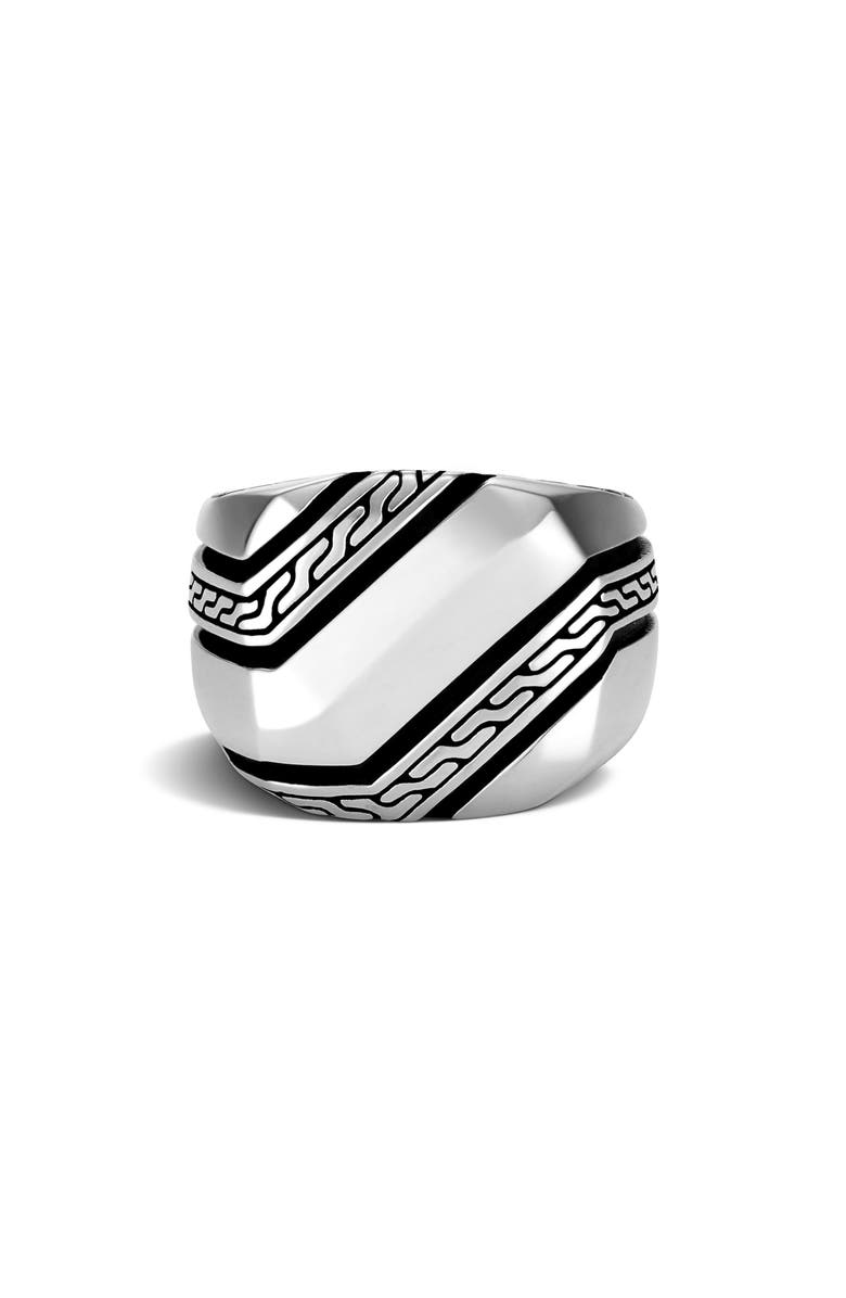 JOHN HARDY Classic Chain Signet Ring, Main, color, SILVER