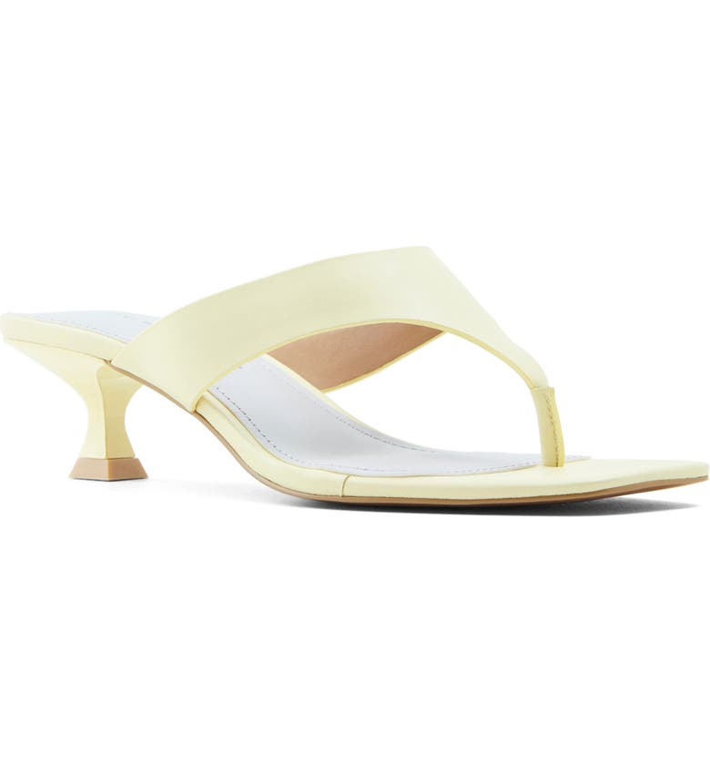 WHO WHAT WEAR Sydney Slide Sandal, Main, color, FRENCH VANILLA NAPPA LEATHER