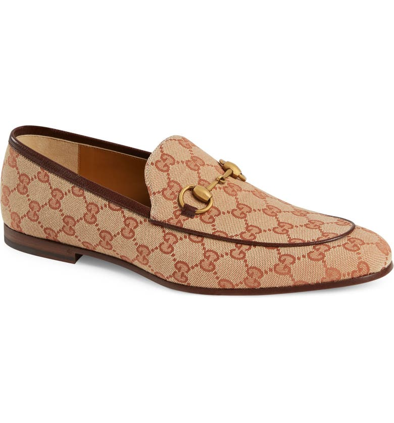 GUCCI Jordaan GG Canvas Loafer, Main, color, 230