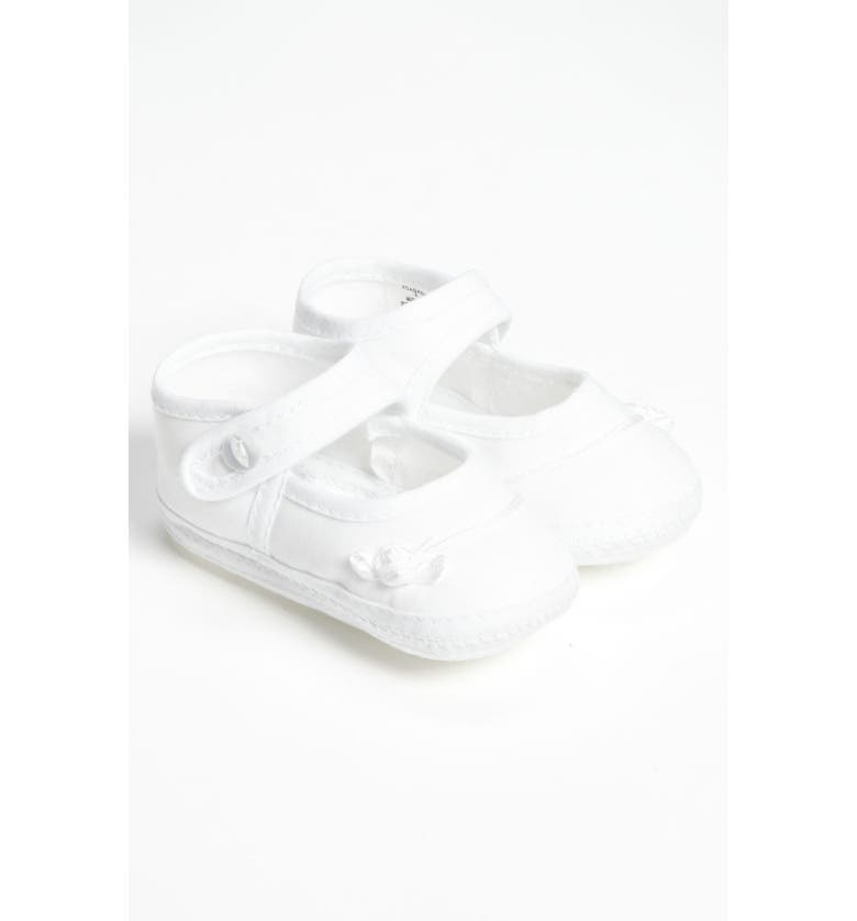 LITTLE THINGS MEAN A LOT Cotton Batiste Shoe, Main, color, WHITE