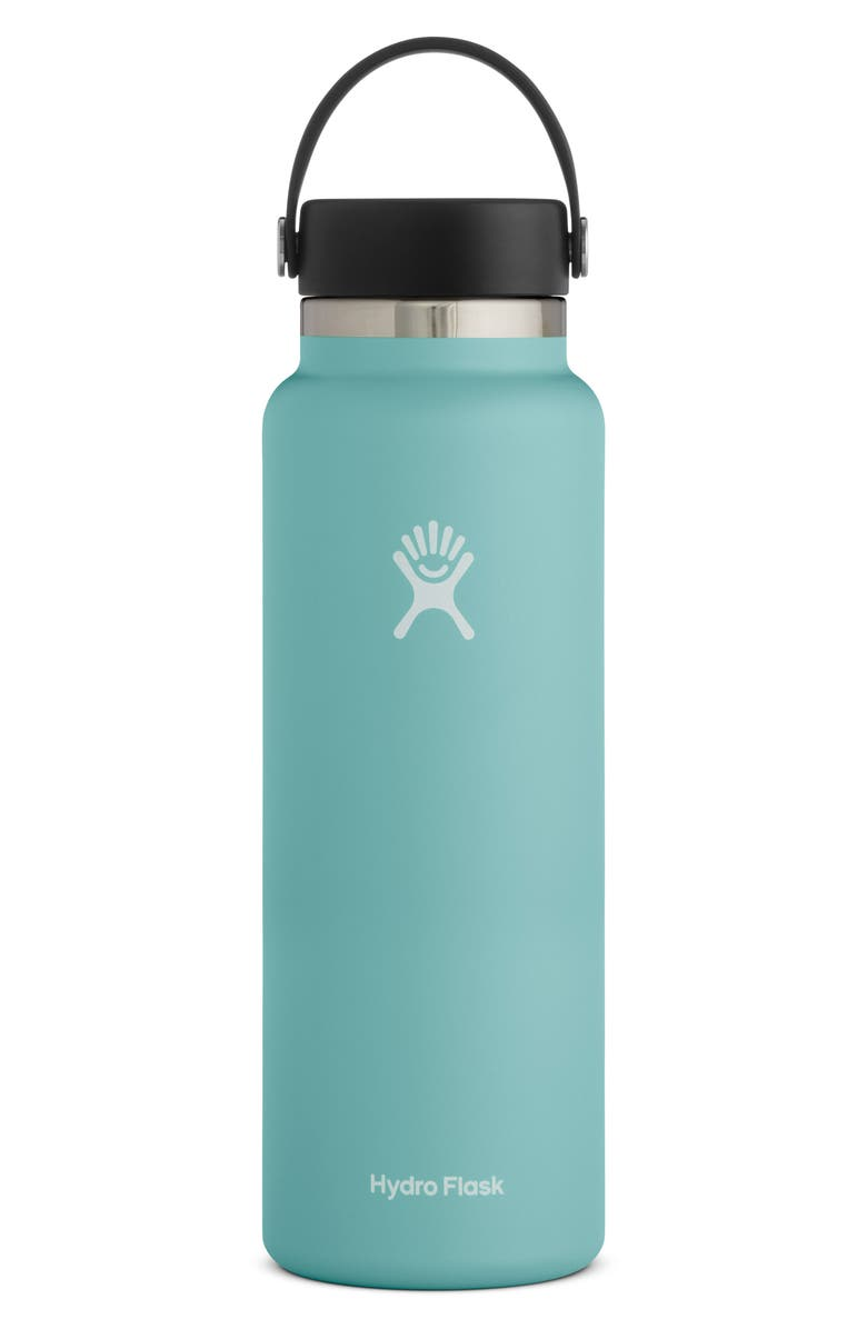 HYDRO FLASK 40-Ounce Wide Mouth Cap Bottle, Main, color, ALPINE