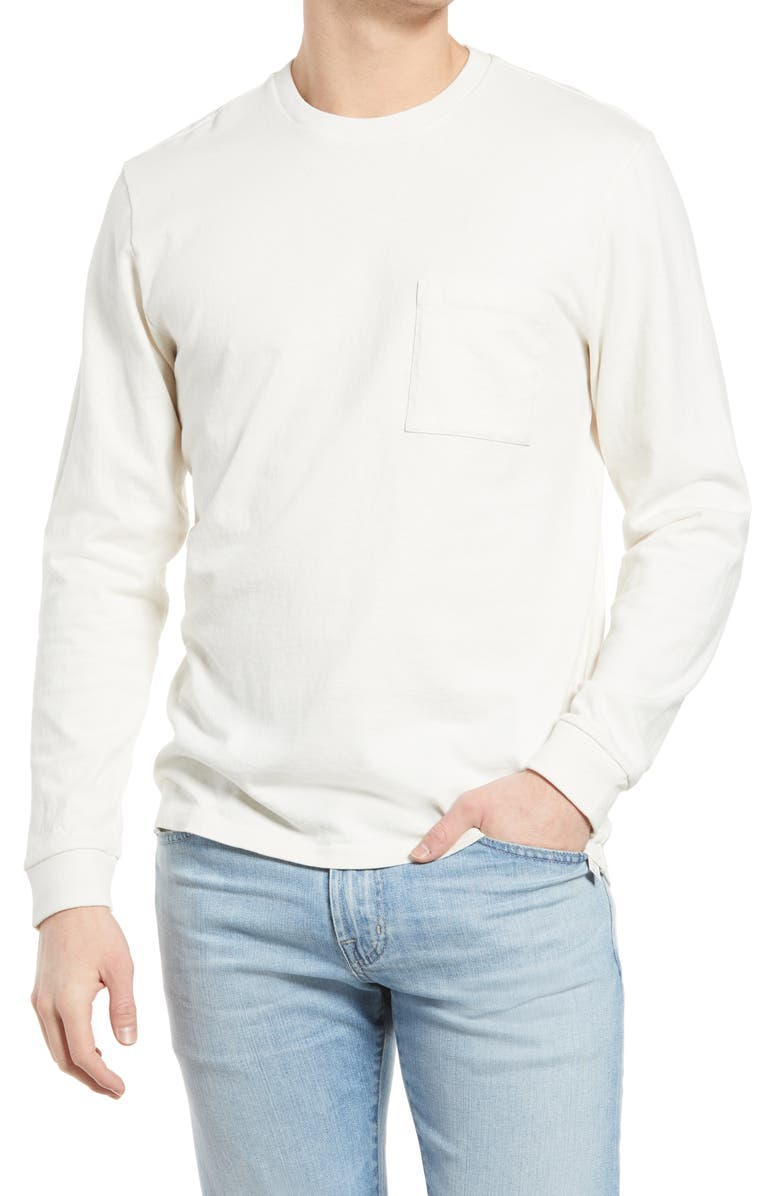 MADEWELL Relaxed Long Sleeve Organic Cotton T-Shirt, Main, color, LIGHTHOUSE