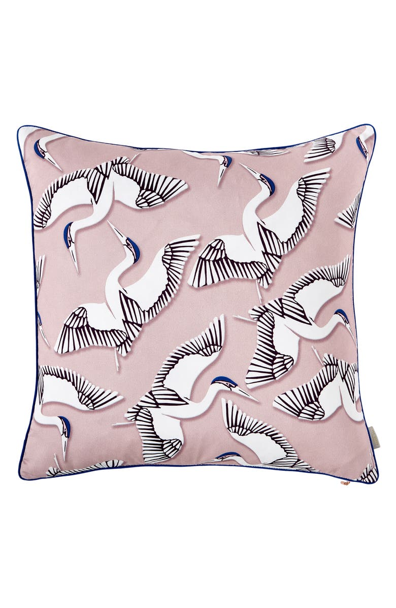 TED BAKER LONDON Crane Print Accent Pillow, Main, color, PINK