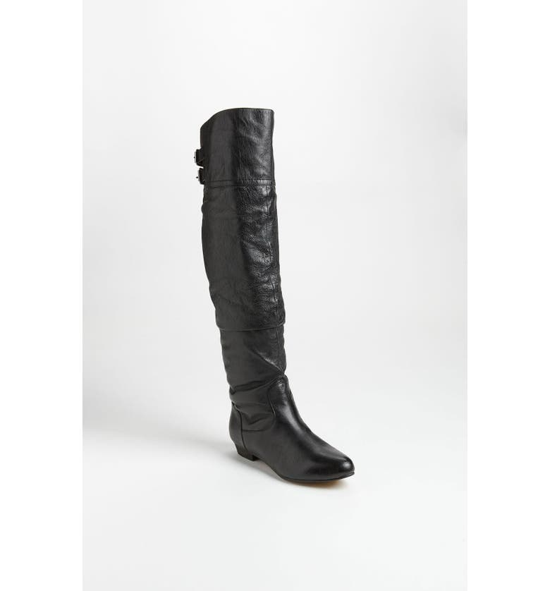 STEVE MADDEN 'Caliko' Over the Knee Boot, Main, color, BLACK LEATHER