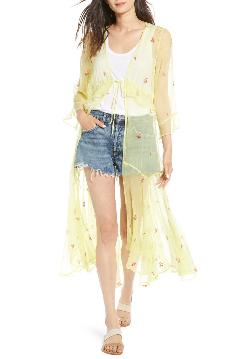 NFC Mini Poppy Embroidered Duster, Main, color, 700