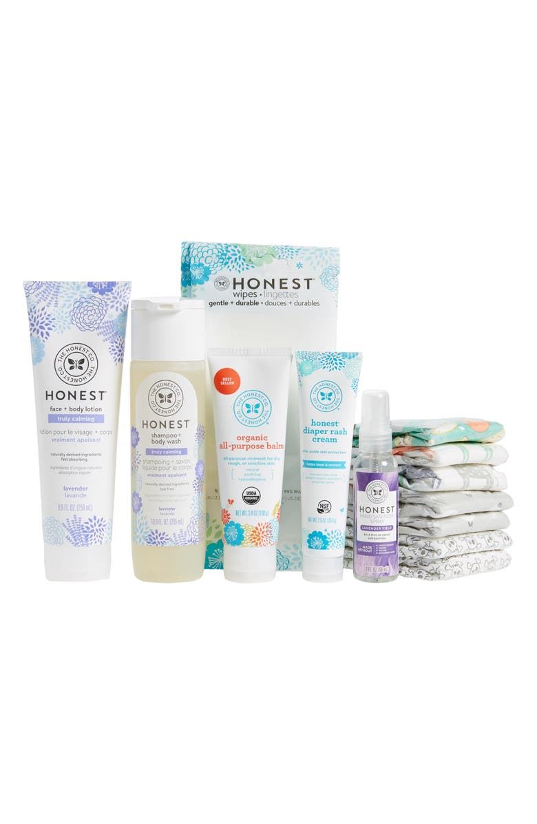 THE HONEST COMPANY Baby Arrival Gift Set, Main, color, LAVENDER
