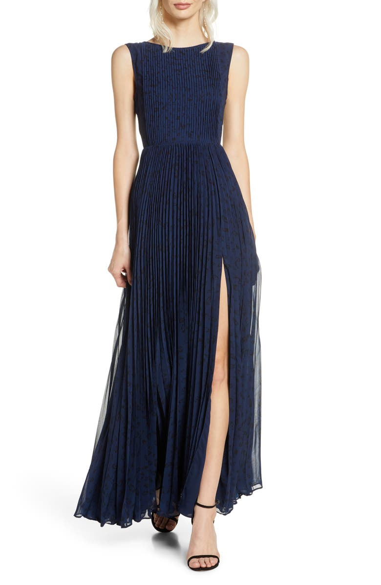 FAME AND PARTNERS The Luna Pleat Gown, Main, color, 467