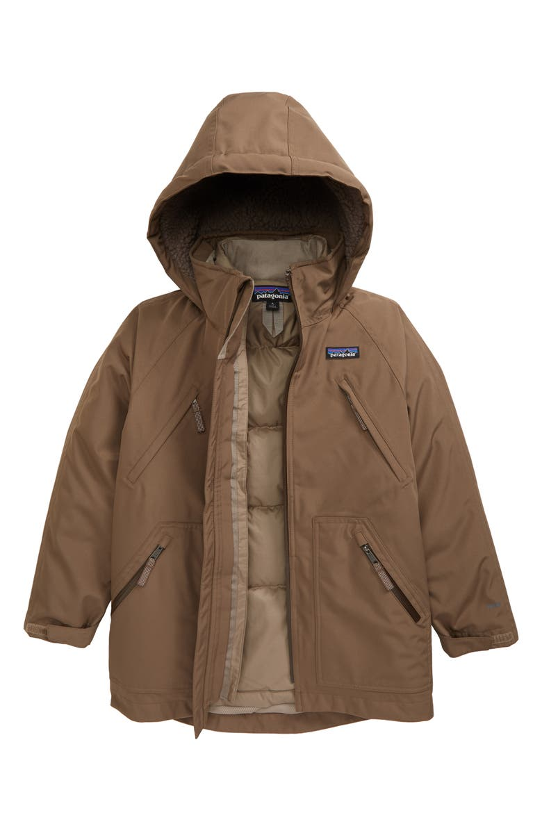 PATAGONIA Tres Water Repellent 3-in-1 Recycled Down Parka, Main, color, TOPSOIL BROWN-TOPB