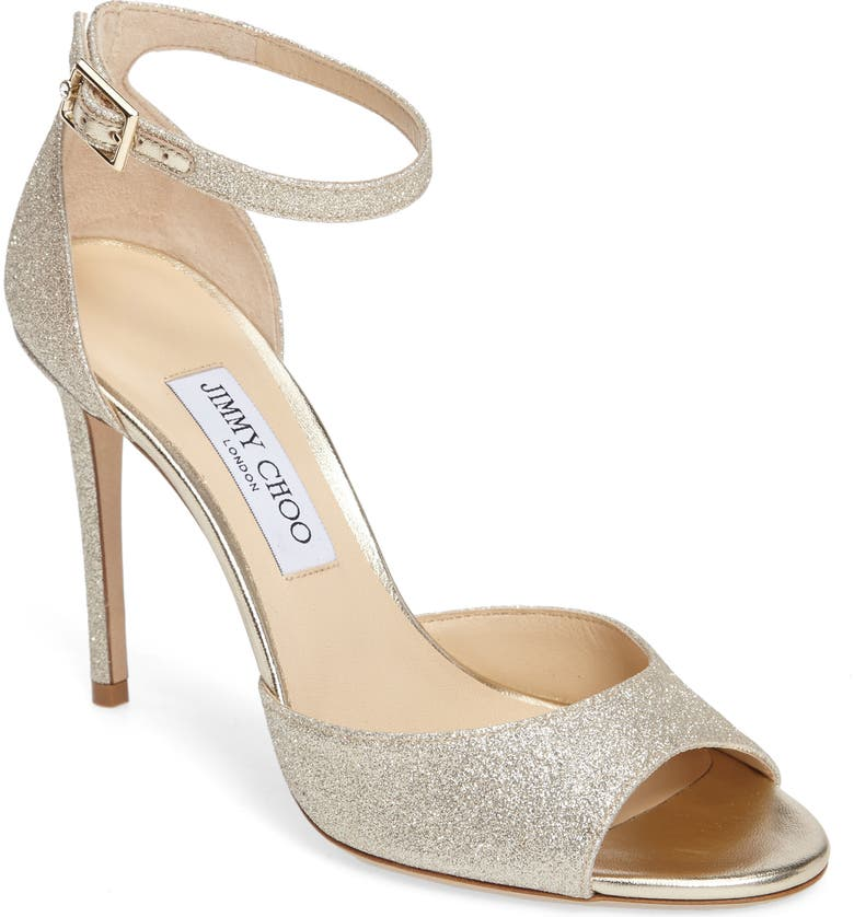 JIMMY CHOO Annie 100 Ankle Strap Sandal, Main, color, 041