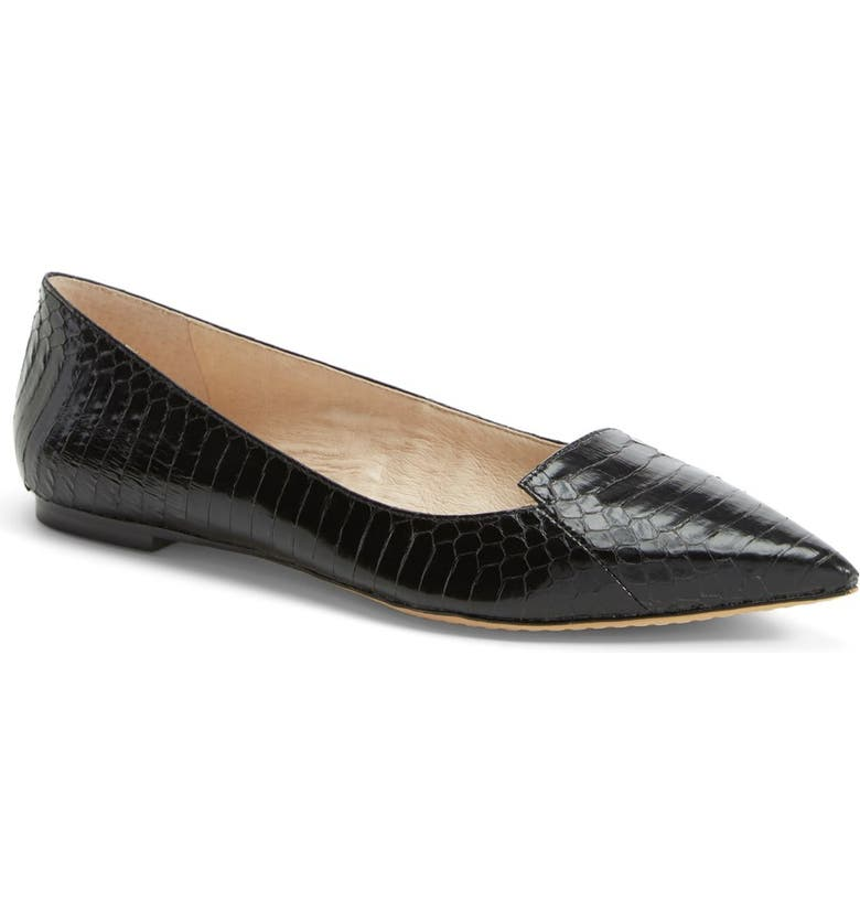 VINCE CAMUTO 'Empa' Pointy Toe Loafer Flat, Main, color, 001