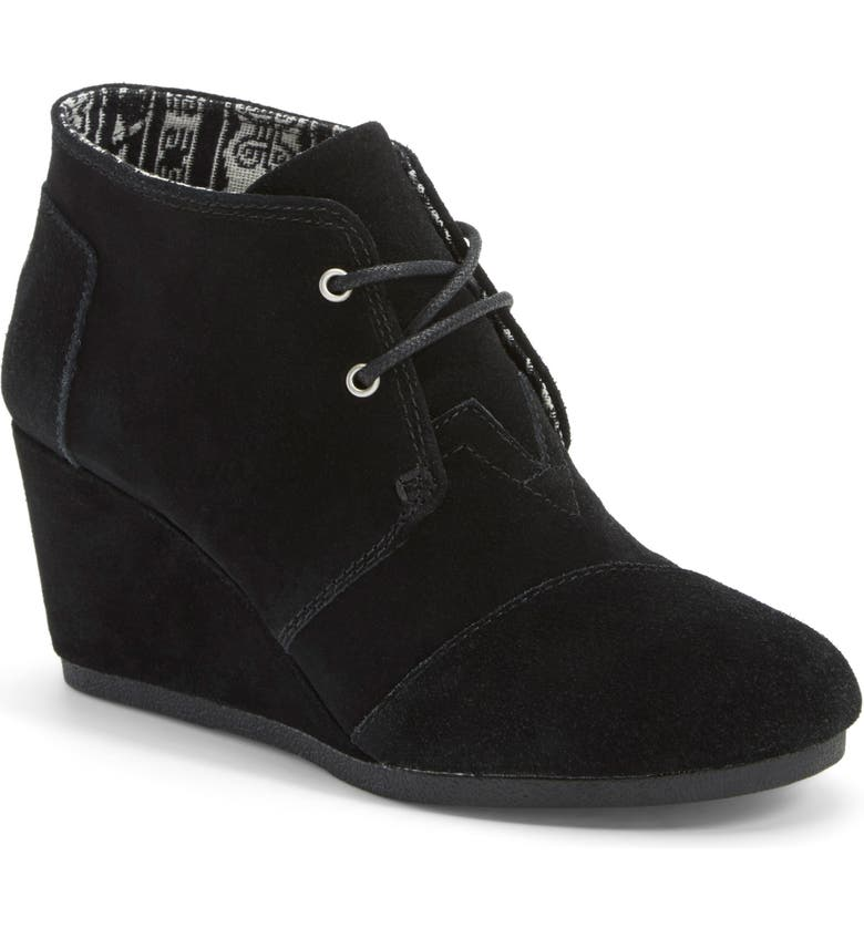 TOMS AN TEST TOMS 'Desert' Wedge Bootie, Main, color, 001