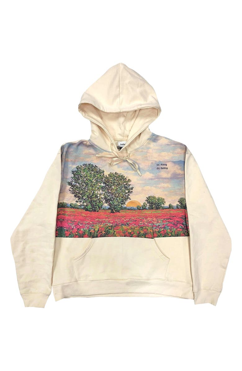 PROFOUND Scenic Sunset Hoodie PROFOUND, Main, color, CREAM