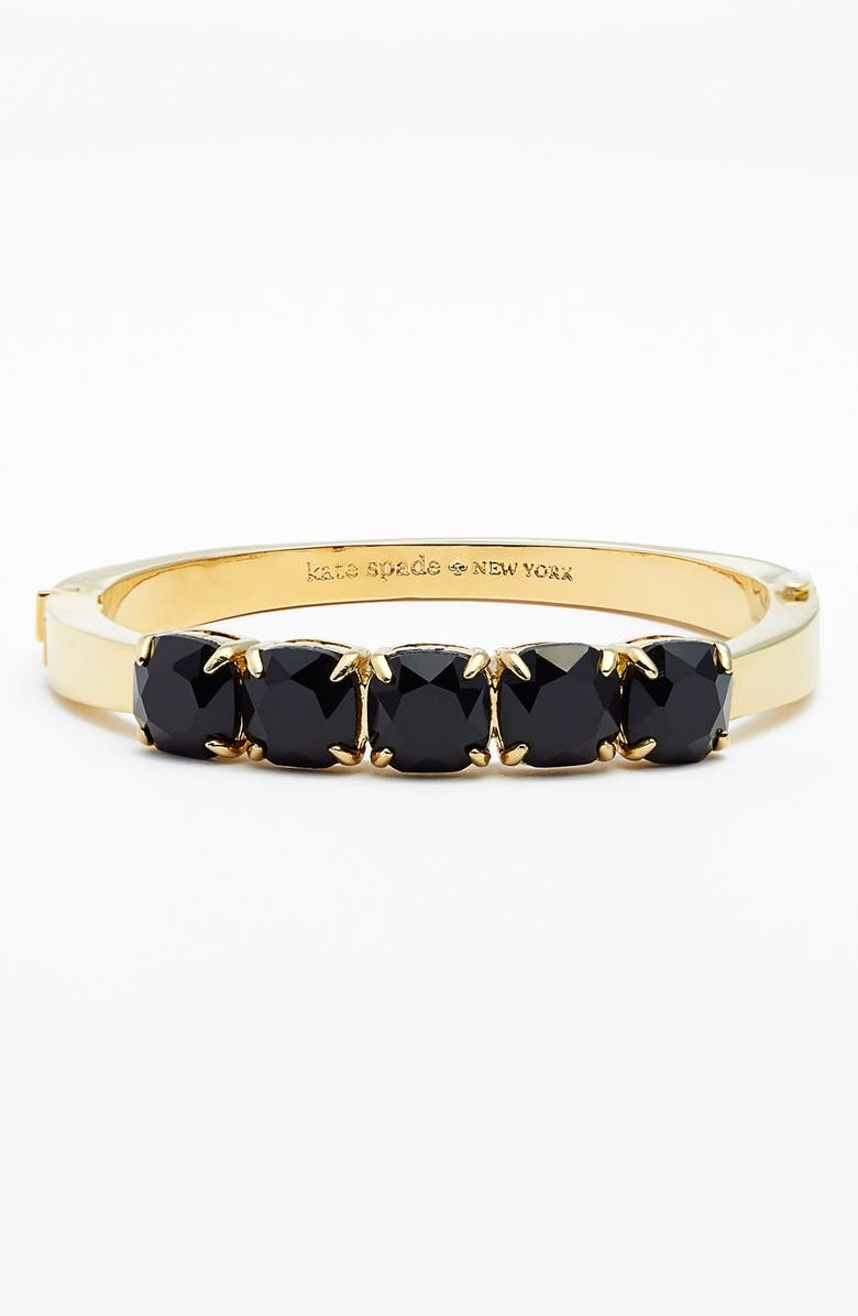 KATE SPADE NEW YORK 'squared away' hinge bracelet, Main, color, 001