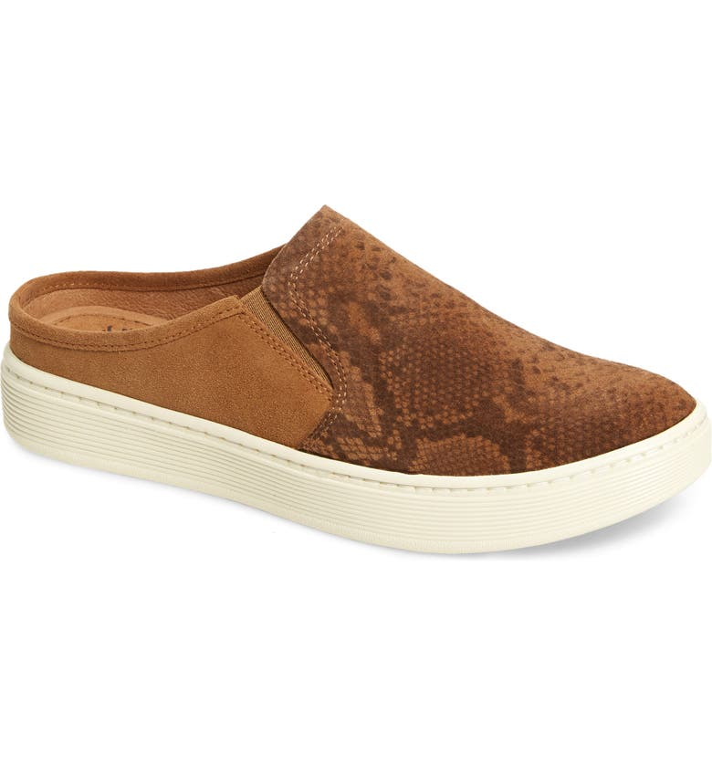 SÖFFT Somers III Sneaker Mule, Main, color, COGNAC LEATHER