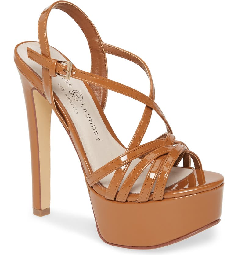 CHINESE LAUNDRY Teaser2 Platform Sandal, Main, color, TOFFEE PATENT LEATHER