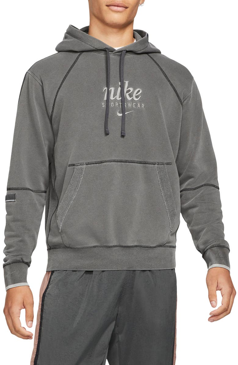NIKE Sportswear Club French Terry Pullover Hoodie, Main, color, ANTHRACITE
