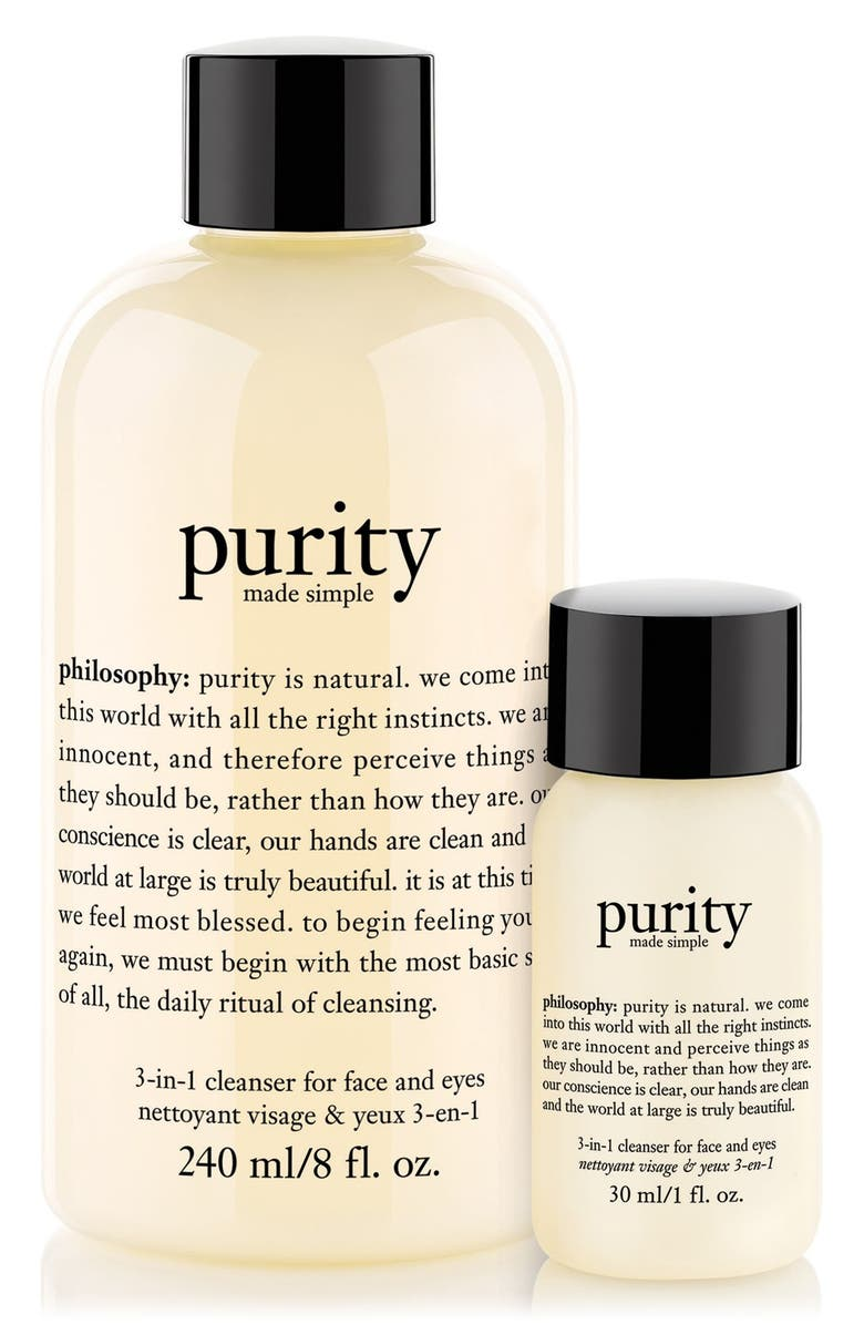 PHILOSOPHY purity made simple one-step facial cleanser duo, Main, color, 000