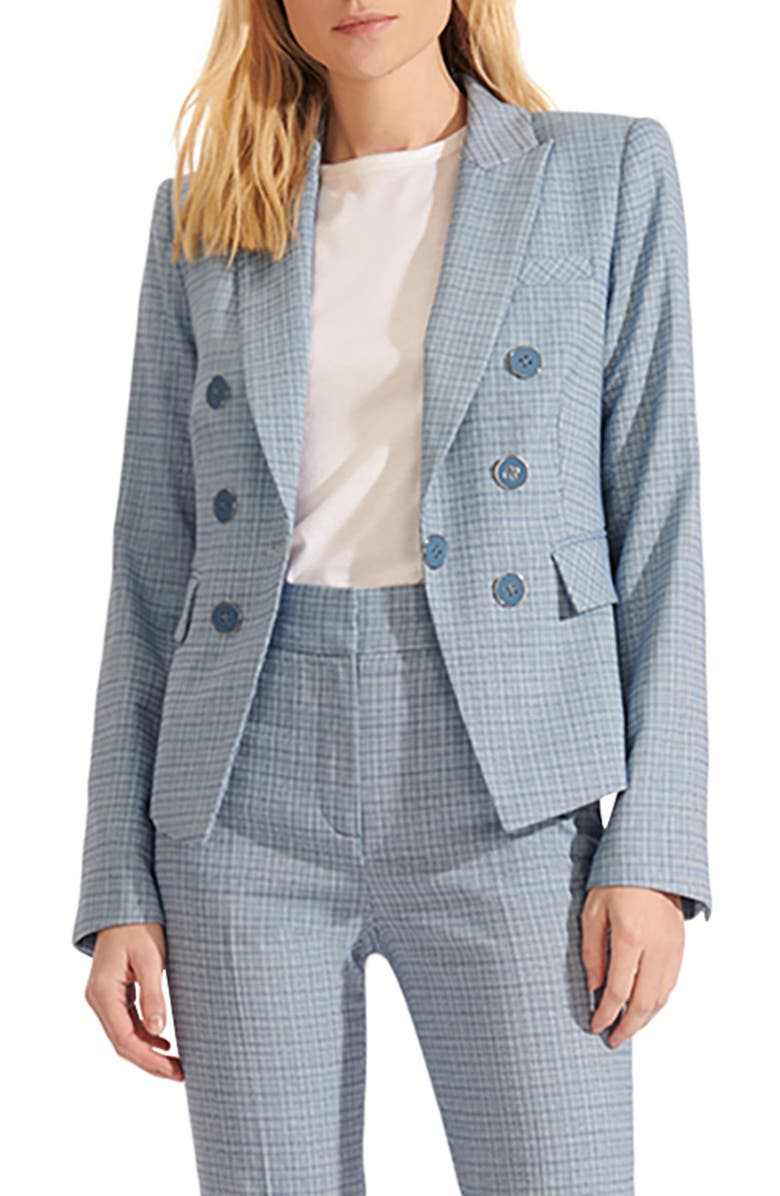 VERONICA BEARD Diego Plaid Dickey Jacket, Main, color, BLUE
