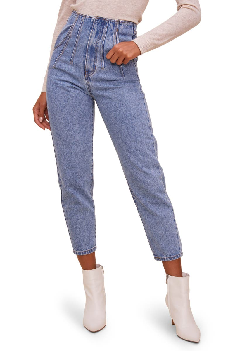 ASTR THE LABEL Mineral Wash High Waist Jeans, Main, color, 454