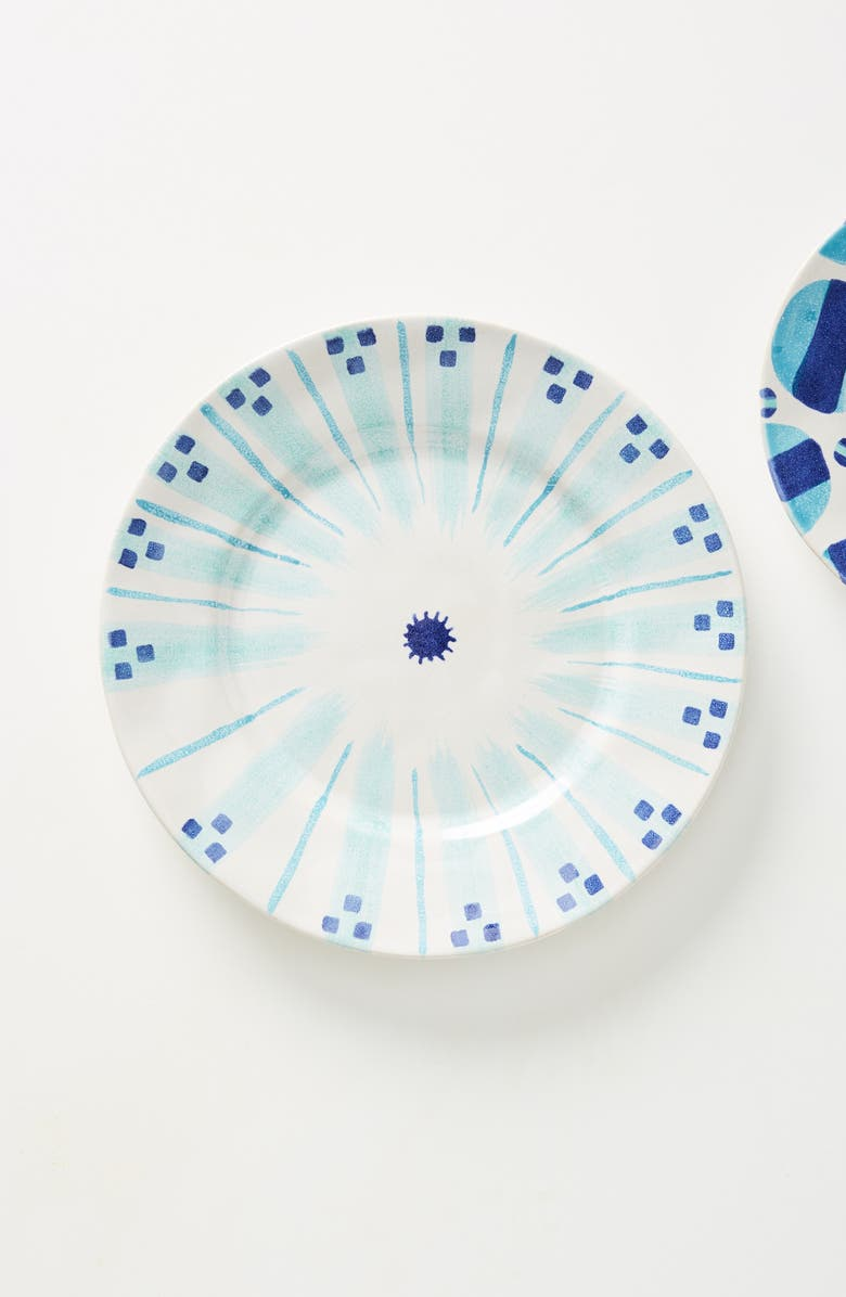 ANTHROPOLOGIE HOME Anthropologie x SUNO Stoneware Dinner Plate, Main, color, WHITE AND BLUE