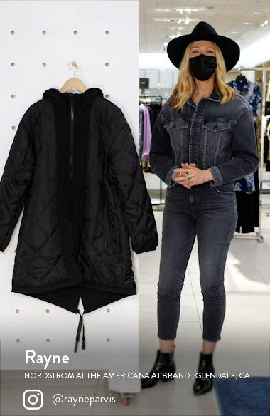 Onion Reversible Classic Fit Quilted Hooded Parka, sales video thumbnail