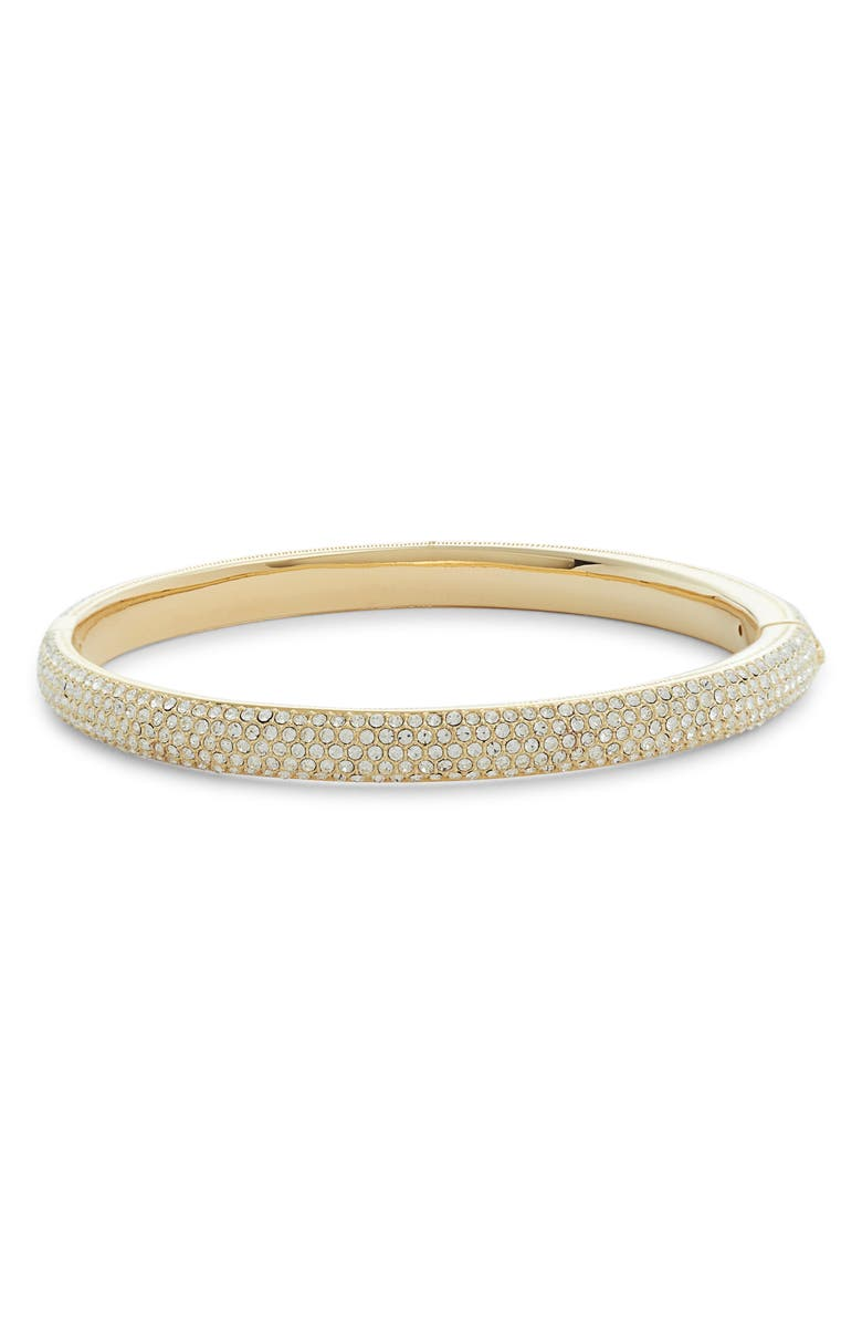 NORDSTROM All Over Pavé Crystal Bangle, Main, color, CLEAR- GOLD