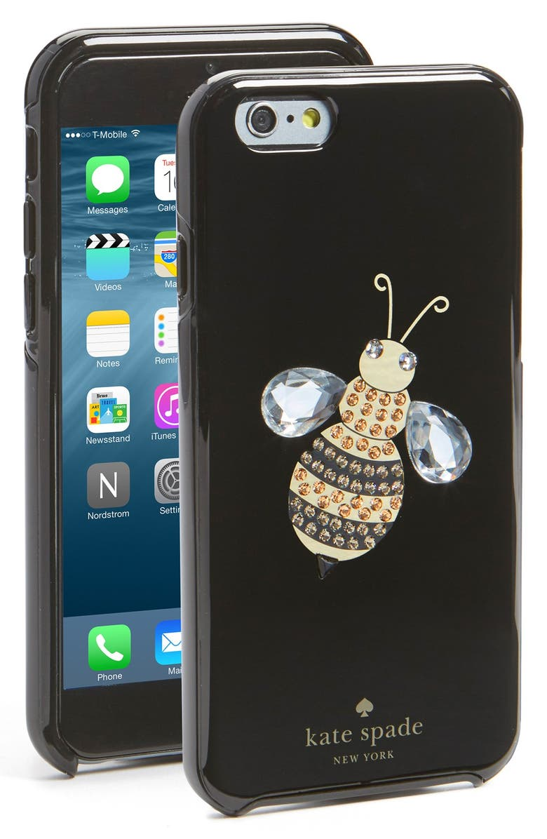 KATE SPADE NEW YORK 'queen bee' iPhone 6 & 6s case, Main, color, 002