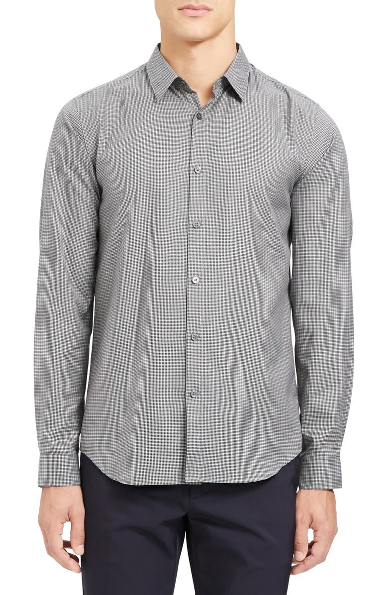 THEORY Irving Bridge Slim Fit Button-Up Shirt, Main, color, 020
