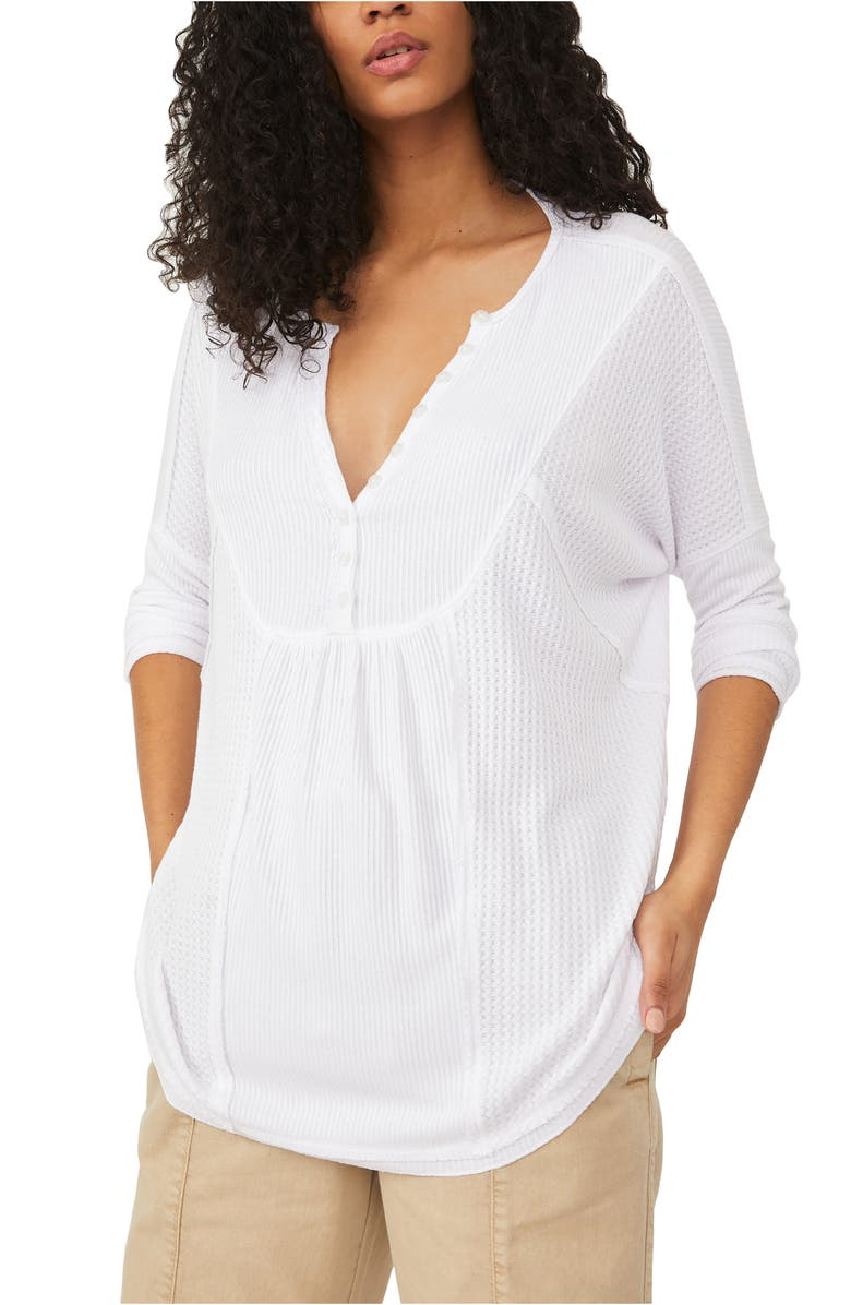 FREE PEOPLE Leo Henley Tee, Main, color, BRIGHT WHITE