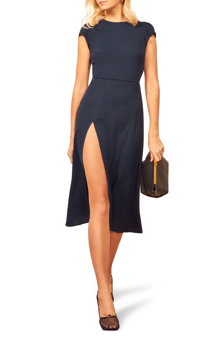 REFORMATION Gavin Dress, Main, color, NAVY