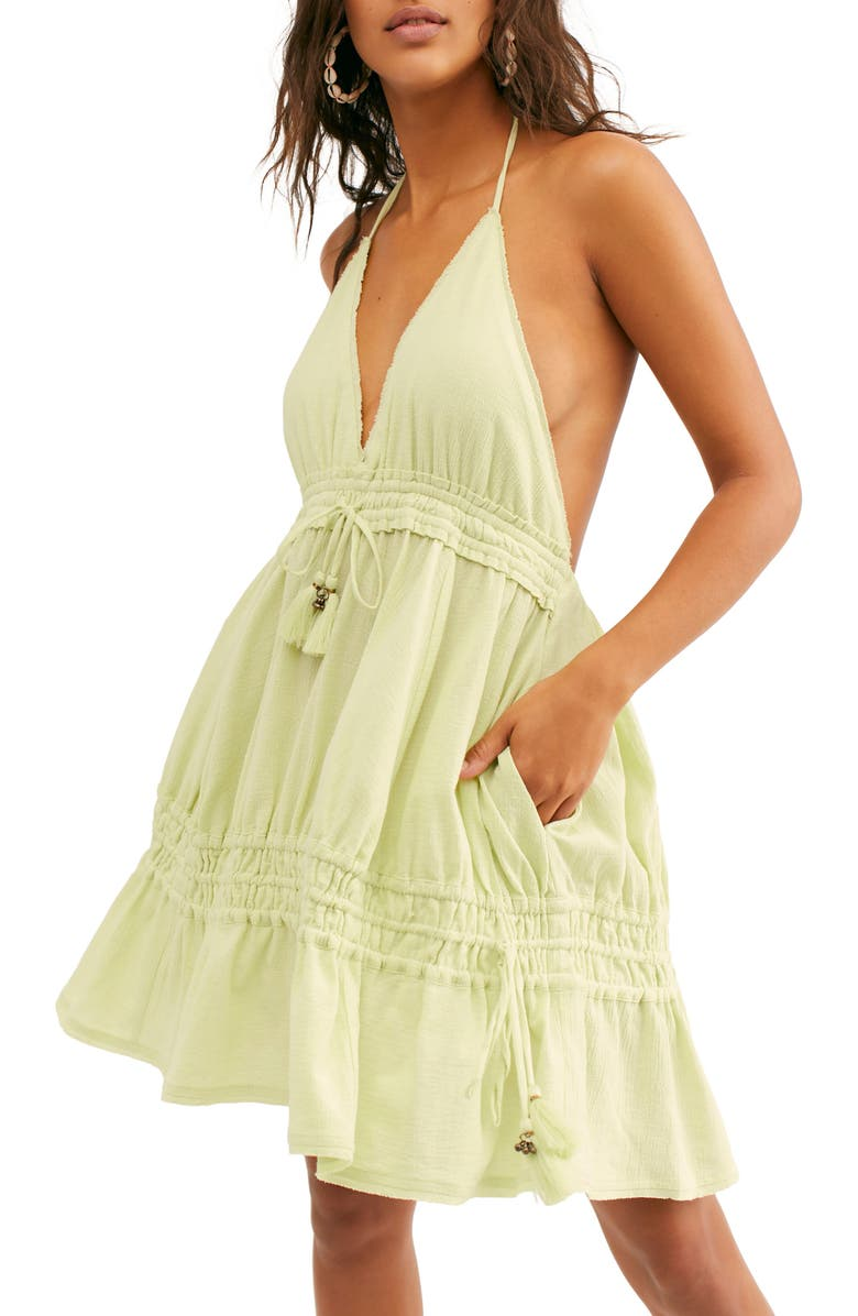 FREE PEOPLE Endless Summer by Free People Signorina Halter Sundress, Main, color, 345