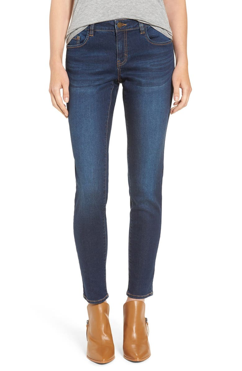 BP. Mid Rise Skinny Jeans, Main, color, CLASSIC BLUE