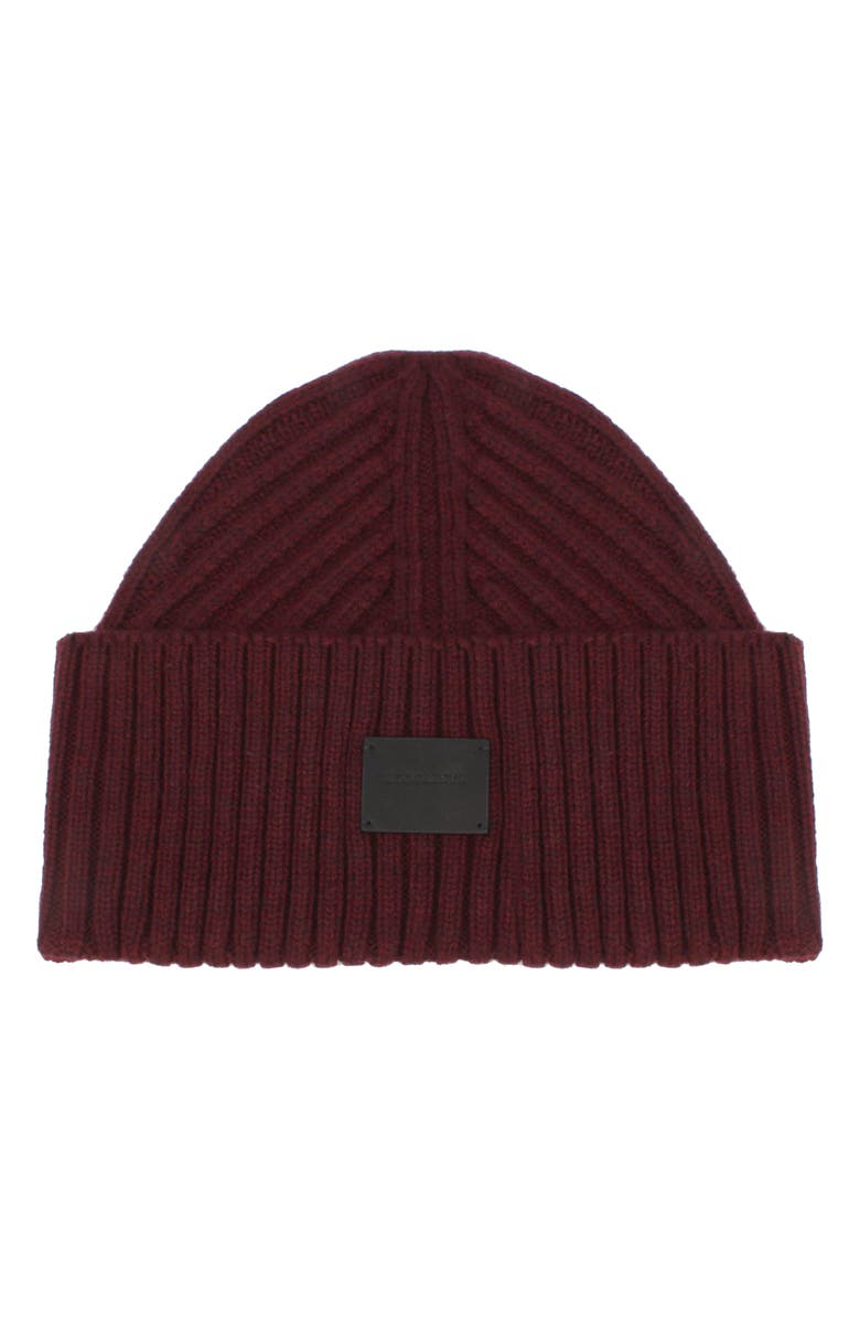 ALLSAINTS Travelling Ribbed Beanie, Main, color, BURNT SIENNA
