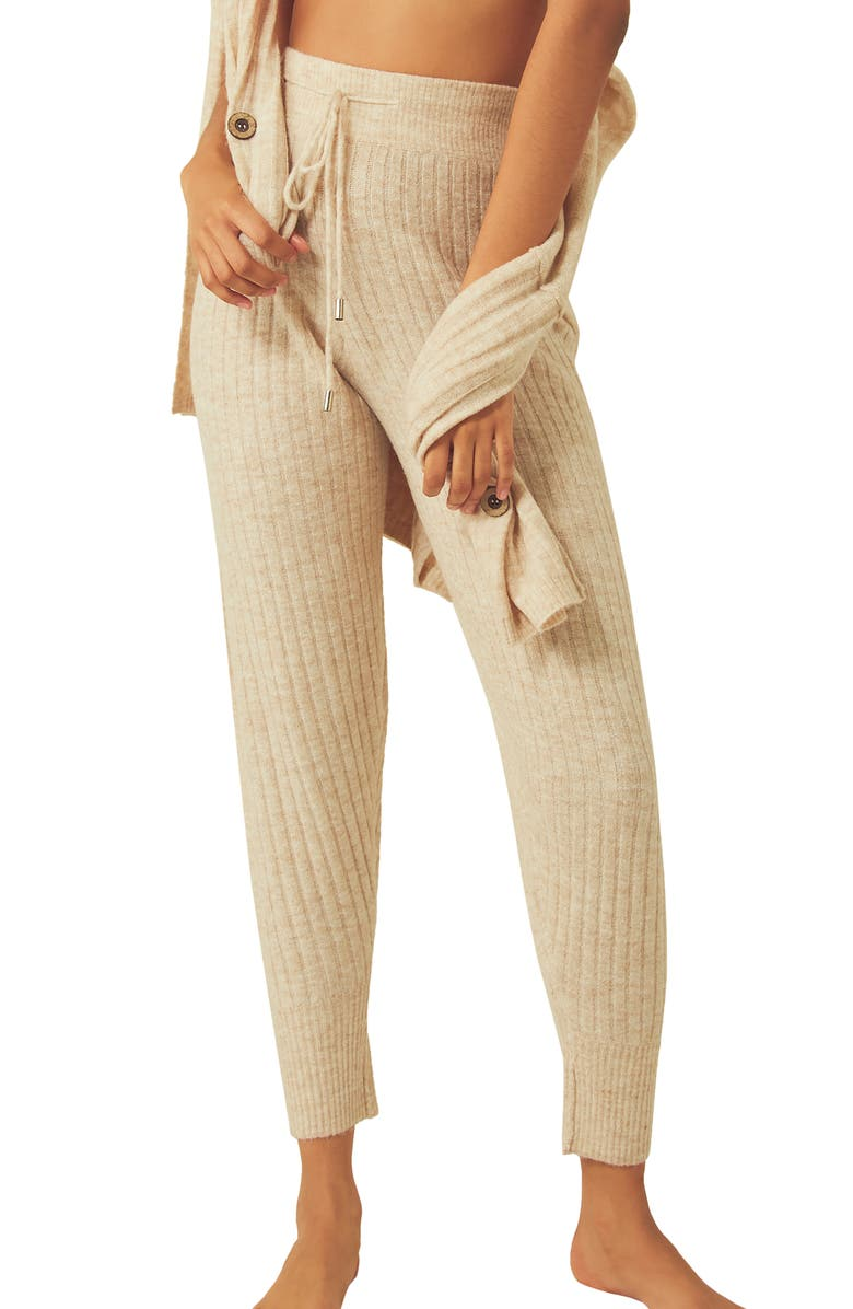 FREE PEOPLE Around The Clock Joggers, Main, color, OATMEAL