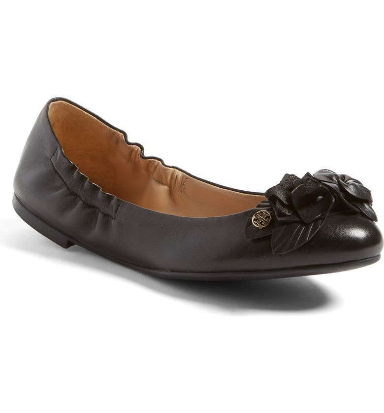 TORY BURCH 'Blossom' Ballet Flat, Main, color, 001