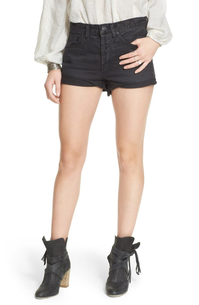 FREE PEOPLE 'Uptown' Denim Shorts, Main, color, 017