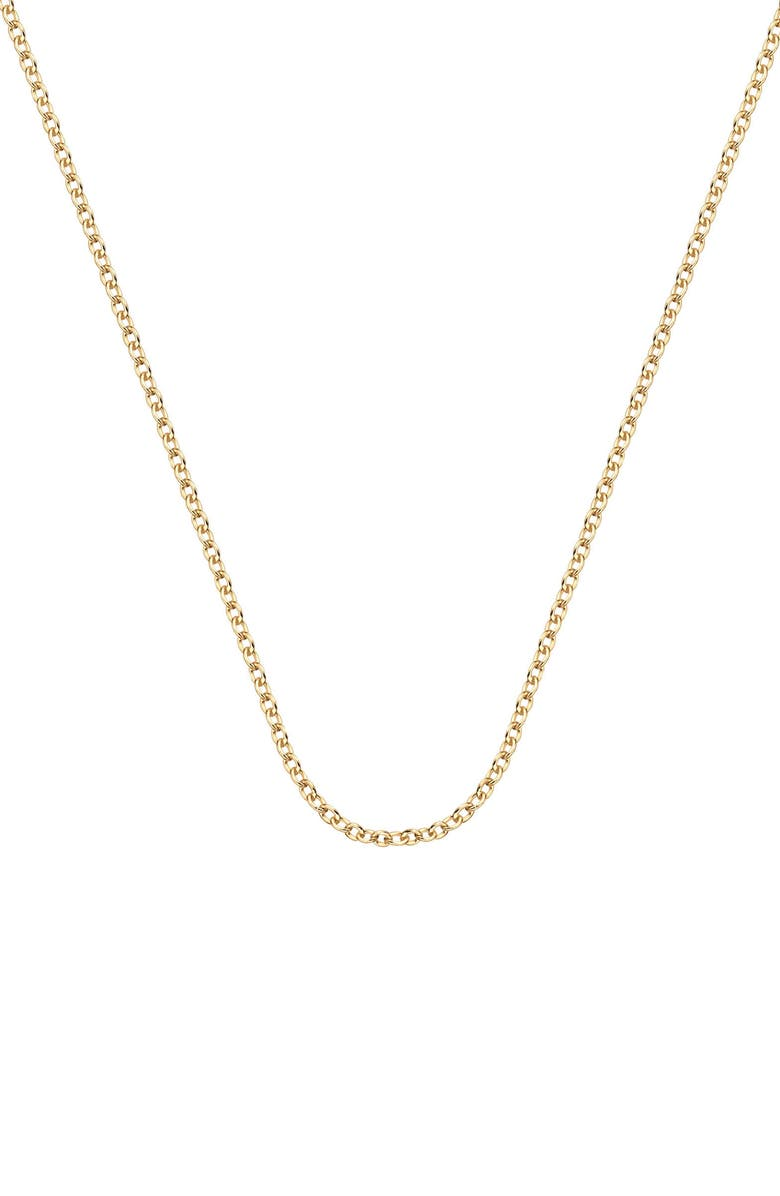 MONICA VINADER 32 Inch Adjustable Rolo Chain, Main, color, YELLOW GOLD