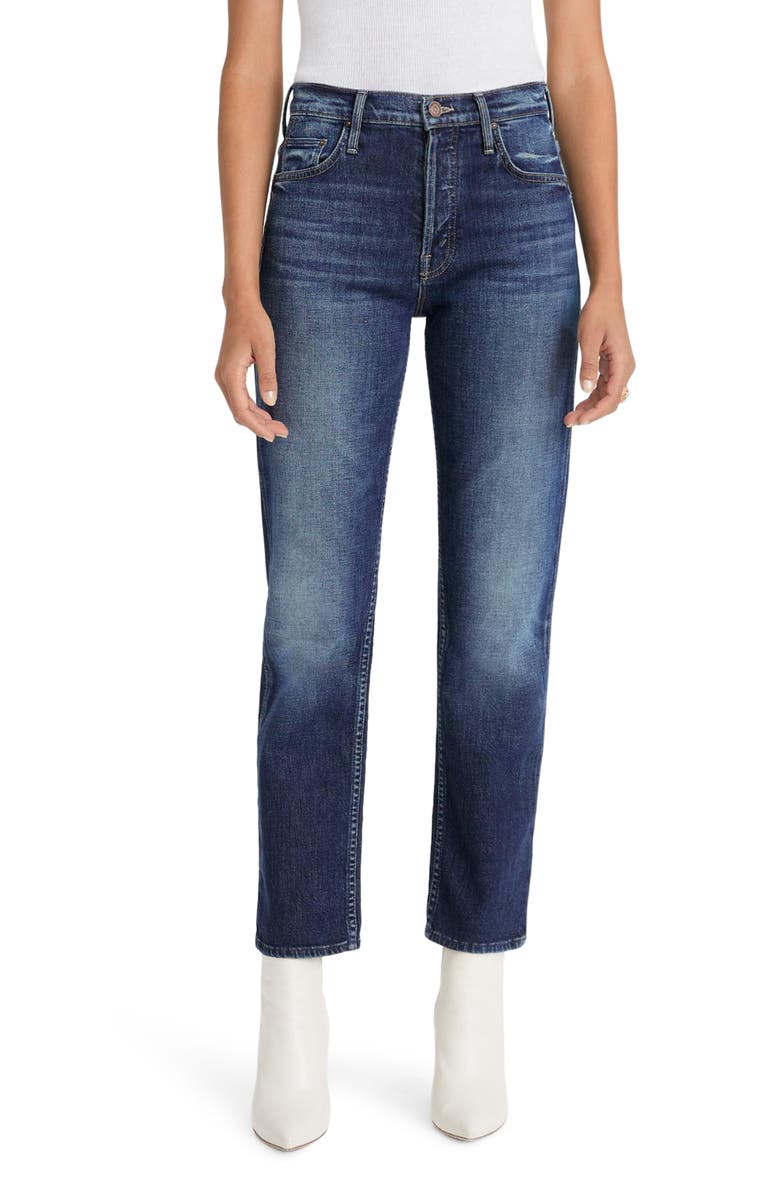 MOTHER The Tomcat High Waist Ankle Straight Leg Jeans, Main, color, 401