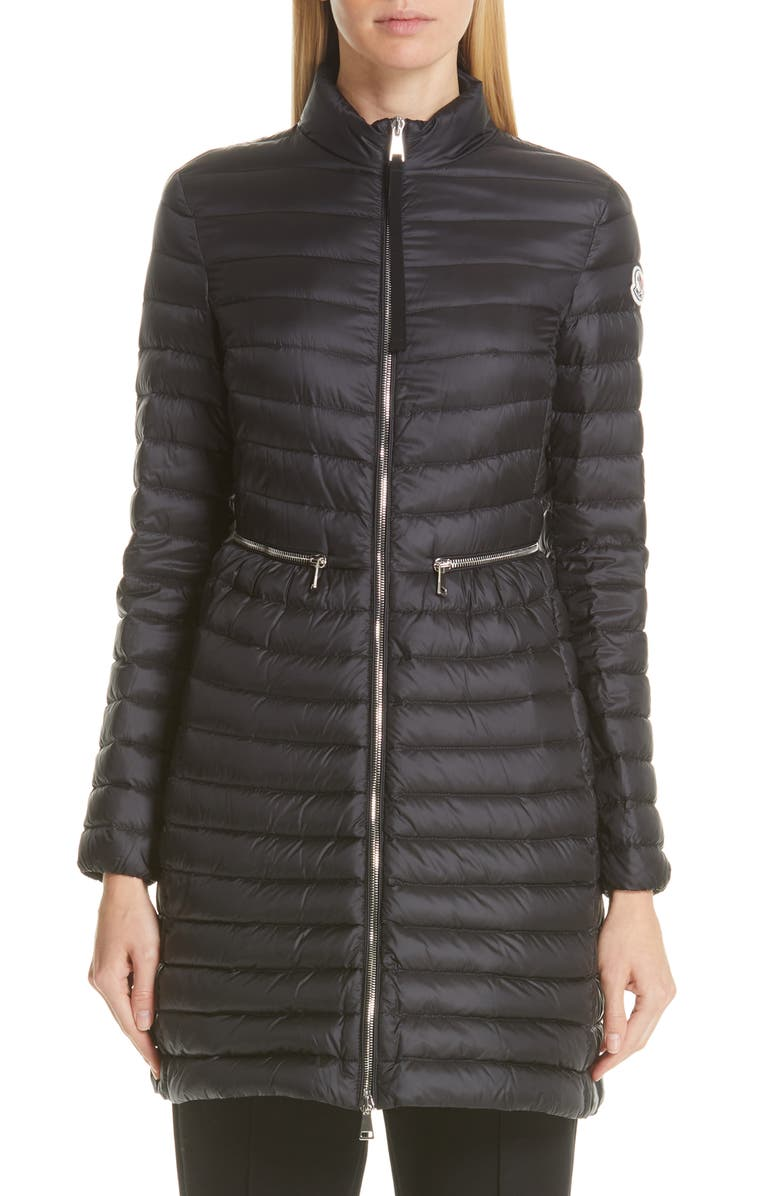MONCLER Agatelon Lightweight Down Quilted Jacket, Main, color, 001