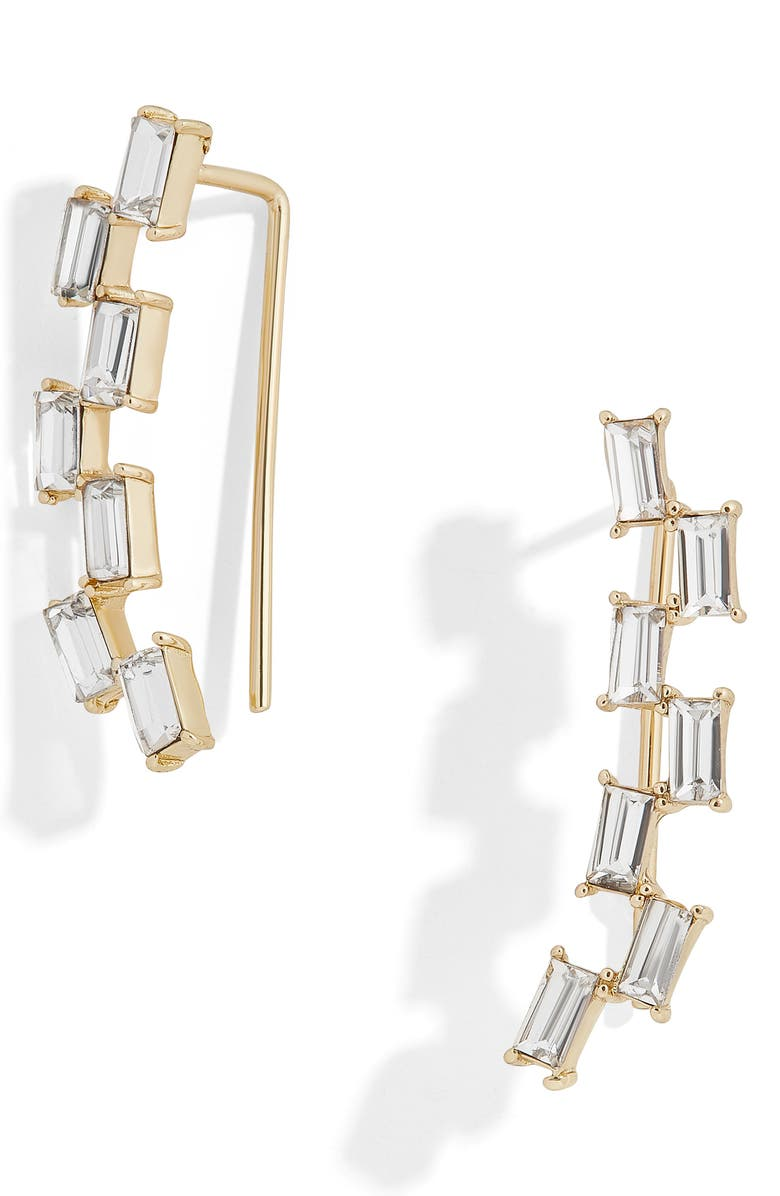 BAUBLEBAR Isola Baguette Crystal Ear Crawlers, Main, color, 710