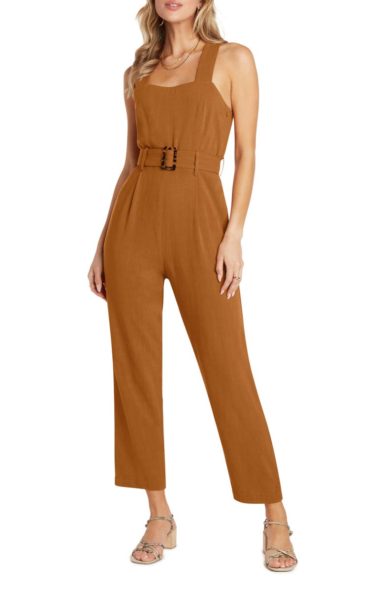 WILLOW Johnson Belted Jumpsuit, Main, color, TERRACOTTA