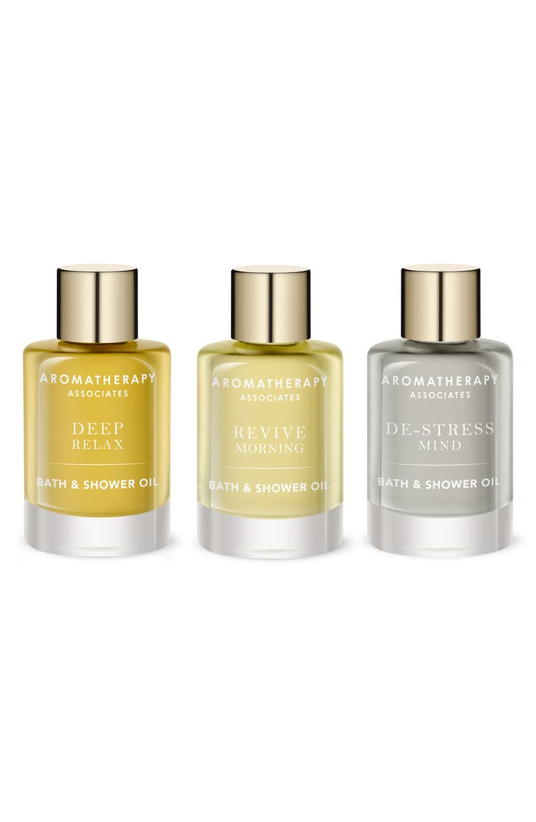 AROMATHERAPY ASSOCIATES Essential Bath & Shower Oil Trio, Main, color, 000
