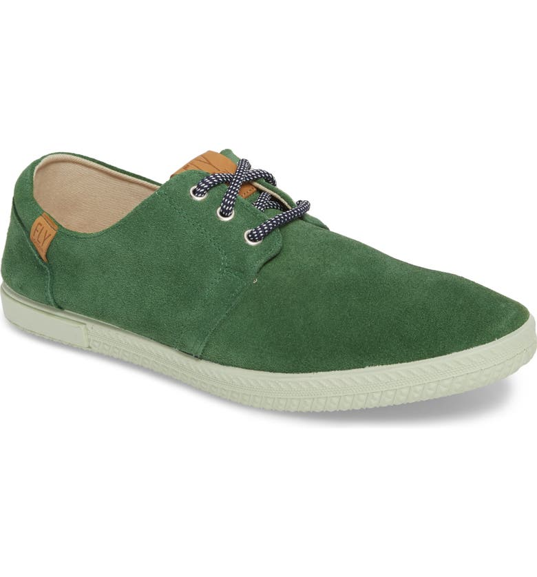 FLY LONDON Sesh Low Top Sneaker, Main, color, GREEN LEATHER