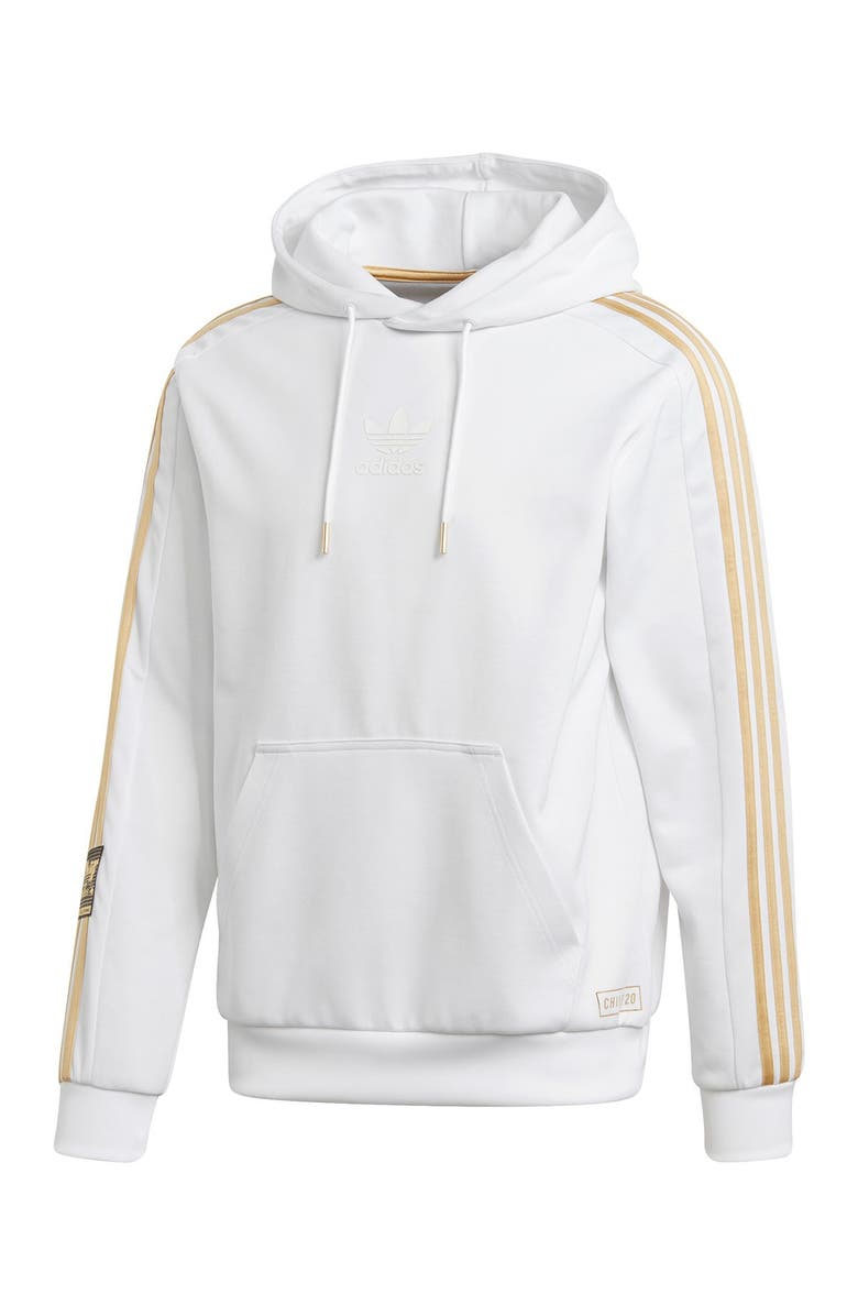 ADIDAS Chile 20 Hoodie, Main, color, WHITE