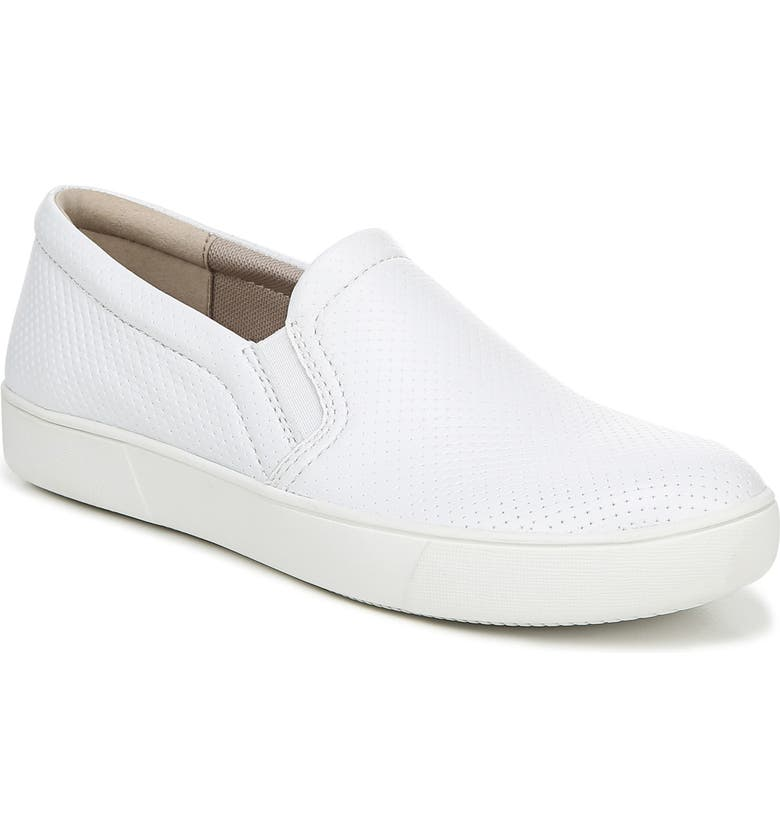NATURALIZER Marianne Slip-On Sneaker, Main, color, WHITE PERFORATED LEATHER